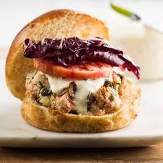 Fresh Salmon Burgers with Tarragon Mayonnaise