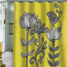 Valentina Ramos Green Garden Shower Curtain With Images