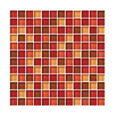 Lungarno Rialto Glass Mosaic - TGB Red Blend - 1 X 1 Mosaic Glass Tile - Glossy