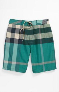 a336991586 Burberry Brit Laguna Check Print Board Shorts (Men) | Nordstrom