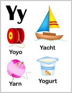 Cute And Colorful Alphabet Letter Y With Set Of Illustrations. Royalty Free Cliparts, Vectors, And Stock Illustration. Alphabet Phonics, Teaching The Alphabet, Alphabet For Kids, Alphabet Worksheets, Alphabet Letters Images, Alphabet Pictures, Learning English For Kids, English Lessons For Kids, Letter H Crafts
