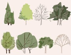 8 Vector trees Illustration - Pack Pack of 8 tree illustrations made in Illustrator. Includes: JPG file PNG file (transparent background) AI file (illustrator Any questions contact me! Landscape Architecture Model, Architecture Drawing Sketchbooks, Landscape Architecture Drawing, Architecture Wallpaper, Architecture Graphics, Landscape Drawings, Trees Illustration, Illustration Vector, Illustrations