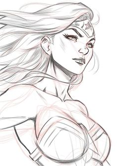 56 Ideas for disney art sketches character design facial expressions . Wonder Woman Kunst, Wonder Woman Drawing, Wonder Woman Art, Wonder Women, Comic Book Drawing, Comic Books Art, Comic Art, Comic Book Artists, Girl Drawing Sketches