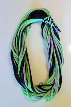 T-Shirt infinity scarf in Seahawks colors.
