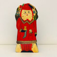Excited to share this item from my shop: Vintage Santa hand painted napkin holder, Vintage Christmas Decorations Festival Decorations, Christmas Decorations, Christmas Ornaments, Holiday Decor, Vintage Santas, Vintage Christmas, Father Christmas, Vintage Decor, Vintage Looks