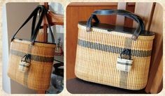 Nantucket basket tote & miniature tote by handvaerker