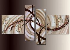 Simple Canvas Art Painting, Abstract Acrylic Art, 4 Piece Wall Art, Buy Painting Online - Welcome My Decor Buy Paintings Online, Canvas Paintings For Sale, Online Painting, Simple Oil Painting, Hand Painting Art, Painting Abstract, Painting Canvas, Abstract Landscape, Landscape Paintings