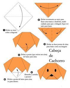 4 dobraduras simples de papel