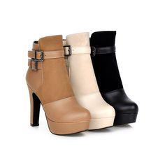 100% Brand New Heels:Approx 12Cm Platform:Approx 3.5Cm Shaft:Approx 10Cm…
