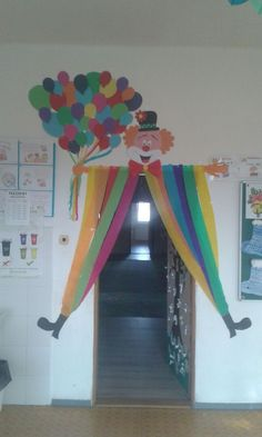 Clown 🤡 Idee di Tendenza  #Clown #Idee Fai da Te #Decorazione Aula #Decorazione 🍢    You can decorate the door not only for special occasions but also to add a pleasant atmosphere to the class. The classroom door is beautifully decorated with students and teachers. If you want to decorate the door of your class and if you need examples about decorating the door of your class you can read more of our article.    Most Beautiful Classroom Door Ornament  Decorating the classroom door ... #Clown Teacher Ornaments, Family Christmas Ornaments, Teacher Christmas Gifts, Teacher Gifts, Circus Birthday, Circus Theme, Circus Party, Decoration Cirque, Decoration Creche