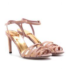 Sandalen Fleur aus Veloursleder Gucci