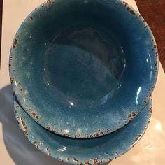 New Rustic Blue Crackle Melamine Salad Soup Cereal Bowls Set of 4 7 New Rustic Blue, Soup Mugs, Dining Sets, Cereal Bowls, Bowl Set, Salad, Plates, Tableware, Ebay