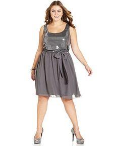 Trixxi Plus Size Dress, Sleeveless Sequin - Junior Plus Size - Plus Sizes - Macy's on Wanelo