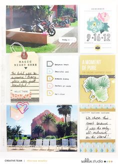 Larkindesign Bermuda Honeymoon Album | Layout 01 feat. Project Mouse Beginnings!!!!