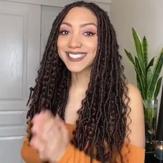 Faux Locs Hairstyles, African Braids Hairstyles, Twist Hairstyles, Protective Hairstyles, Wedding Hairstyles, Faux Braids, Faux Locs Curly Ends, Dread Braids, Curly Hair Styles
