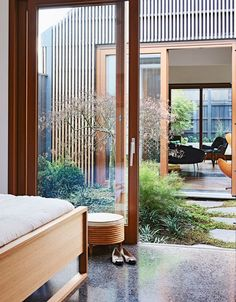 Landscape design by Kate Seddon in Melbourne house by Steffen Welsch Architects Styling Heather Nette King Photography Eve Wilson Story Australian House Garden House Design, House, Courtyard House, Courtyard Design, Modern House, House Exterior, Internal Courtyard, Interior Garden, Melbourne House