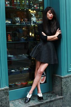 COM  double combination American Apparel Skirt, Autumn Style, Winter Style, d1a070e105a6