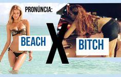 Aula de Inglês - Pronúncia: BEACH x BITCH