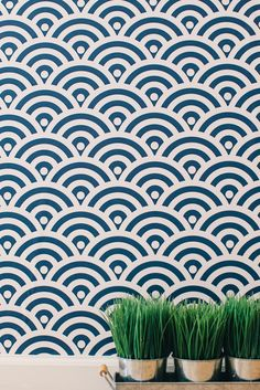 Chasing Paper removeable wallpaper panels // Circle  Pop - Navy $25