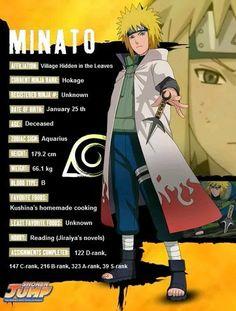 Minato character info - Naruto