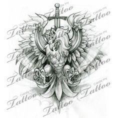 Polish crest/eagle custom tattoo | eagle 3 #28801 | CreateMyTattoo.com