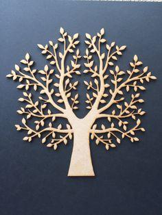 Plain Wooden MDF Family tree crafting weddings by DanksyArtsCrafts