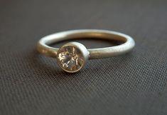Alternative wedding ring / faux diamond ring / natural by EmmyBean