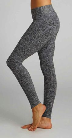 New: Salt Pepper Long Legging by BEYOND YOGA in Black Spacedye available at Pure Barre Lakeview! Leggings - http://amzn.to/2id971l