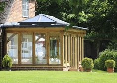 A stunning traditional orangery featuring a glazed lantern and surround glazing opens the room and encourages in natural light. Orangery Extension, Cottage Extension, House Extension Design, House Design, Garden Room Extensions, House Extensions, Kitchen Extensions, House Layout Plans, House Layouts