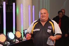 """An always-jolly PDC player, """"The Pie Man"""" Andy Smith."""