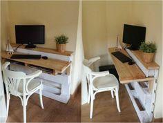 Schreibtisch selber bauen paletten  schreibtisch-selber-bauen-paletten-vertikal-stehend ...