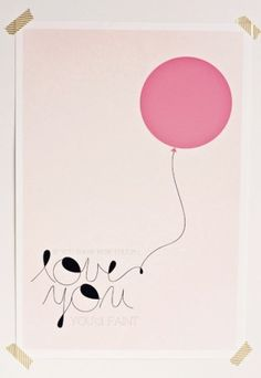 Love incorporating balloons into the design . . .