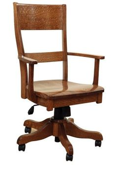 Amish Jamestown Desk Chair Solid wood desk chair. Choice of wood and stain. Custom made in Amish country. #deskchairs