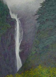 日本画【滝の音】 - 自然はともだち ひともすき