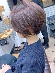 Short Hair With Layers, Short Hair Cuts For Women, Layered Hair, Balayage Brunette, Balayage Hair, Belle Hairstyle, Asian Short Hair, Shot Hair Styles, Corte Y Color