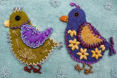 "Beadlust: Finished ""Chicks"" Quilt (Sue Spargo Wool Applique)"