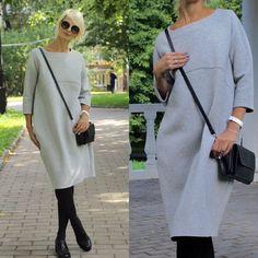 Modest Fashion, Hijab Fashion, Fashion Outfits, Womens Fashion, Cocoon Dress, Mode Plus, Fashion Images, Mode Style, Winter Dresses
