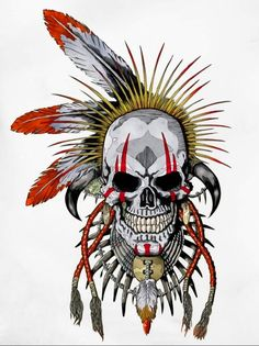 Discover recipes, home ideas, style inspiration and other ideas to try. Cat Skull Tattoo, Floral Skull Tattoos, Pirate Skull Tattoos, Indian Skull Tattoos, Bull Skull Tattoos, Sugar Skull Tattoos, Skull Tattoo Design, Tattoo Floral, Tattoo Designs