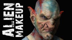 This is a tutorial of the application and colouring of a alien prosthetic. I thought it was really helpful and I like the use of colours in this one. they were airbrushed on around the details of the look to help it stand out. The contrasting colours give it a modern look in my opinion.