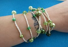 Greensleeves Versatile crocheted necklace / bracelet by FleasKnees, $15.00