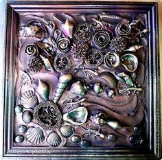 Картина панно рисунок Ассамбляж Терра - букет из ящериц фото 1
