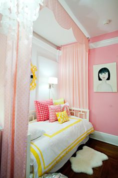 Cozy Nook, pink girls room, girls cozy nook