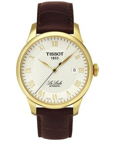 98c2b0bff01 Tissot Men s Swiss Automatic T-Classic Le Locle Brown Leather Strap Watch  39mm T41541373 Relojes