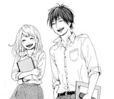 Anime. Couple. Love. ANIMU. (School is so much better with her by my side.(