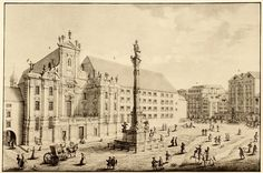Johann August Corvinus (after Salomon Kleiner): View of the Am Hof square in Vienna with the Column of Our . Kingdom Of Bohemia, Kingdom Of Italy, Holy Roman Empire, Early Middle Ages, Central Europe, Vienna, 18th Century, Austria, Paris Skyline