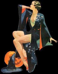 Retro Witch Graphic, 1930s