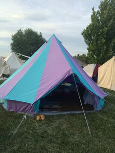 Our bell tent from Boutique Camping in action at May Crown in the Kingdom of An Tir.