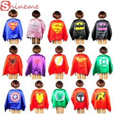 Home Frugal 1sets Kids Superhero Costume Superman Costumes Set Cloths Boys Girl Birthday Party Children