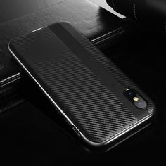 For iPhone X Case Roybens Fashion Acrylic Frame + Black Soft TPU Cover For iPhone X Ultra Thin Slim Carbon Fiber Fundas Coque http://iphonexfree.net/23393/