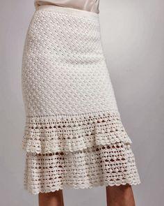 Crochetemoda: Casaqueto e Saia de Crochet